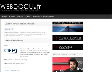 http://webdocu.fr/web-documentaire/les-formations-au-webdocumentaire/