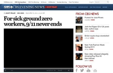 http://www.cbsnews.com/8301-18563_162-20101767/for-sick-ground-zero-workers-9-11-never-ends/