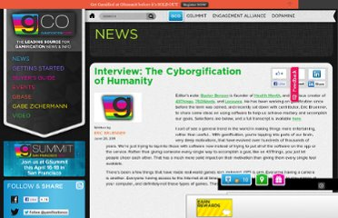 http://www.gamification.co/2011/06/20/interview-the-cyborgification-of-humanity/