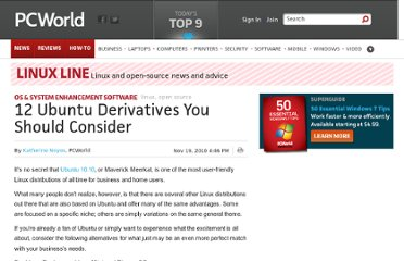 http://www.pcworld.com/article/211266/12_ubuntu_derivatives_you_should_consider.html