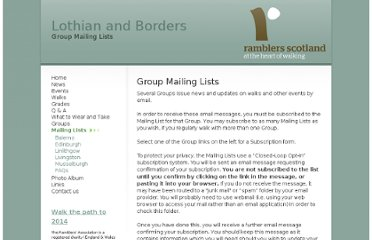 http://www.lothian-borders-ramblers.org.uk/group_mailing_lists/