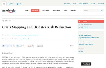 http://reliefweb.int/report/world/crisis-mapping-and-disaster-risk-reduction