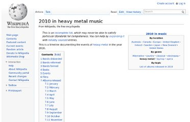 http://en.wikipedia.org/wiki/2010_in_heavy_metal_music