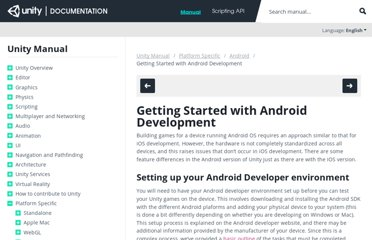 http://docs.unity3d.com/Documentation/Manual/android-GettingStarted.html