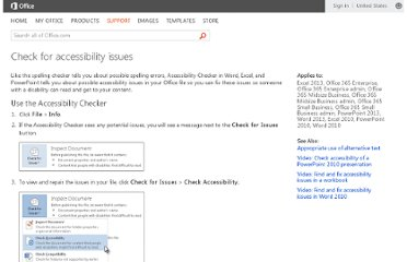 http://office.microsoft.com/en-us/excel-help/check-for-accessibility-issues-HA010369192.aspx