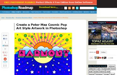 http://www.photoshoproadmap.com/Photoshop-blog/create-a-peter-max-cosmic-pop-art-style-artwork-in-photoshop/