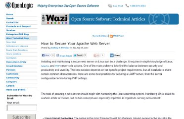 http://www.openlogic.com/wazi/bid/188105/How-to-Secure-Your-Apache-Web-Server