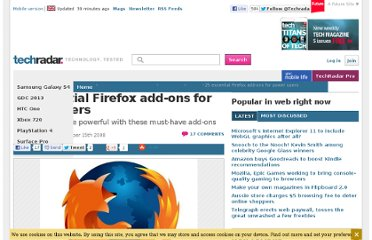 http://www.techradar.com/news/internet/web/25-essential-firefox-add-ons-for-power-users-475934