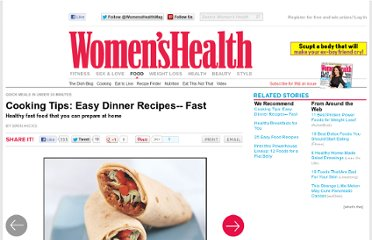 http://www.womenshealthmag.com/nutrition/30-minute-meal-recipes