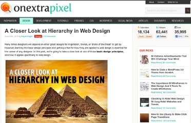 http://www.onextrapixel.com/2010/06/24/a-closer-look-at-hierarchy-in-web-design/