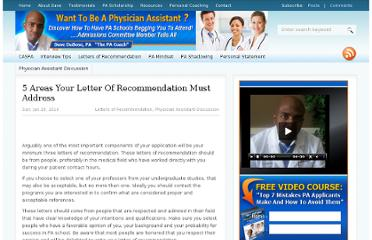 http://www.gotophysicianassistantschool.com/letters-of-recommendation/5-areas-your-letter-of-recommendation-must-address/