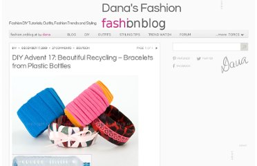 http://fashion.onblog.at/en/diy-advent-17-beautiful-recycling-bracelets-from-plastic-bottles