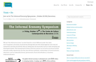 http://www.claropartners.com/join-us-for-the-informal-economy-symposium-october-12-2012-barcelona/