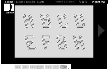 http://www.fastcodesign.com/1669362/frustro-a-mind-bending-typeface-comprised-of-impossible-objects#1