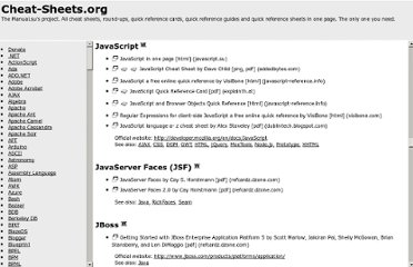 http://www.cheat-sheets.org/#JavaScript