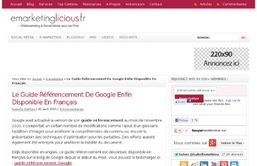 http://www.emarketinglicious.fr/webmarketing/le-guide-referencement-de-google-enfin-disponible-en-francais