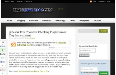 http://www.exclusivebloggers.com/5-best-tools-for-checking-plagiarism/
