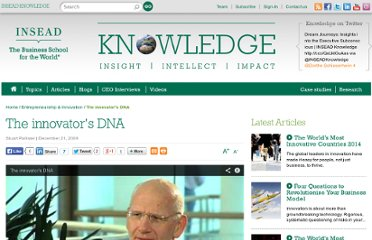 http://knowledge.insead.edu/innovation/entrepreneurship/the-innovators-dna-1264