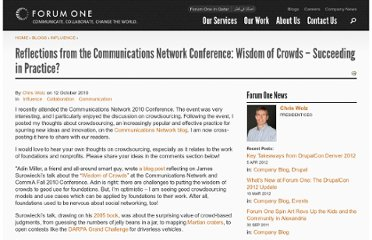 http://forumone.com/blogs/post/reflections-communications-network-conference-wisdom-crowds-%E2%80%93-succeeding-practice