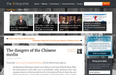 http://www.lowyinterpreter.org/post/2012/10/03/The-dangers-of-the-Chinese-media.aspx
