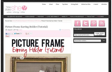 http://www.howdoesshe.com/picture-frame-earring-holder/