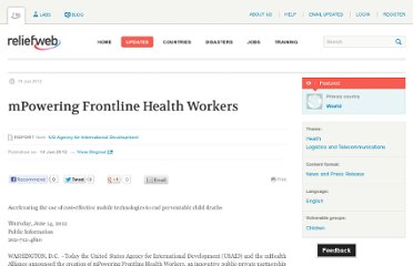 http://reliefweb.int/report/world/mpowering-frontline-health-workers