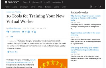 http://gigaom.com/2011/02/23/10-tools-for-training-your-new-virtual-worker/
