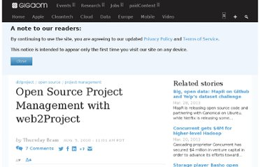 http://gigaom.com/2010/08/05/open-source-project-management-with-web2project/