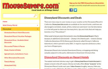 http://www.mousesavers.com/disneyland-california-vacation-discounts-and-deals/