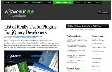 http://www.w3avenue.com/2009/07/01/list-of-really-useful-plugins-for-jquery-developers/