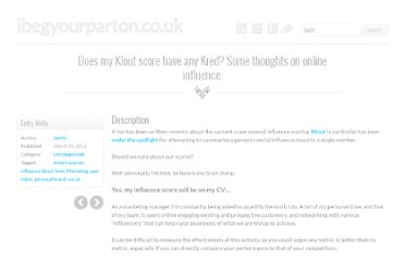 http://www.jamesparton.info/does-my-klout-score-have-any-kred-some-thoughts-on-online-influence/