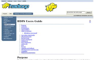 http://hadoop.apache.org/docs/stable/hdfs_user_guide.html
