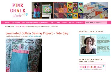 http://www.pinkchalkstudio.com/blog/2009/11/19/laminated-cotton-sewing-project-tote-bag/