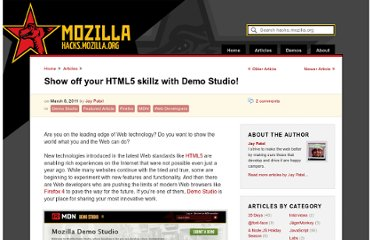 https://hacks.mozilla.org/2011/03/show-off-your-html5-skillz-with-demo-studio/