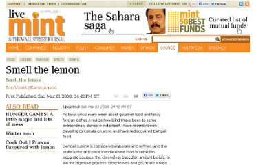 http://www.livemint.com/Leisure/j0Uzcb5QjnYybN3zYa5CiI/Smell-the-lemon.html