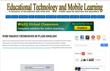 http://www.educatorstechnology.com/2012/10/web-search-techniques-in-plain-english.html