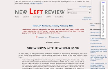 http://newleftreview.org/II/7/robert-wade-showdown-at-the-world-bank