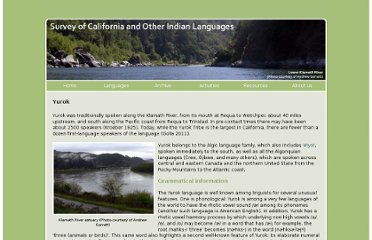 http://linguistics.berkeley.edu/~survey/languages/yurok.php