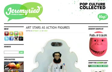 http://www.jeremyriad.com/blog/art/3d/sculptures/contemporary-art-stars-as-action-figures/