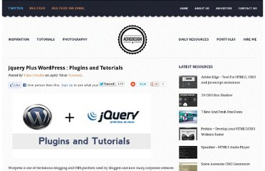 http://acrisdesign.com/2010/04/jquery-plus-wordpress-plugins-and-tutorials/
