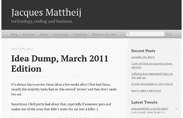 http://jacquesmattheij.com/Idea+Dump+March+2011+Edition
