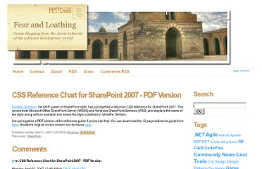http://weblogs.asp.net/bsimser/archive/2007/04/01/css-reference-chart-for-sharepoint-2007-pdf-version.aspx