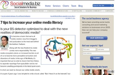 http://socialmedia.biz/2009/12/15/7-tips-to-increase-your-online-media-literacy/