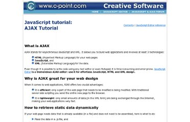 http://www.c-point.com/javascript_tutorial/Editor/ajax_tutorial.htm