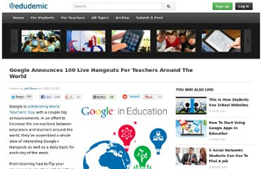 http://edudemic.com/2012/10/google-world-teachers-day/