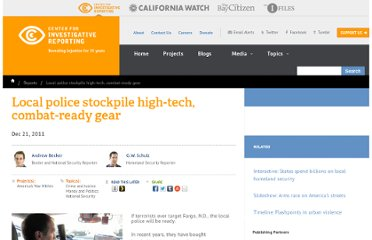 http://cironline.org/reports/local-police-stockpile-high-tech-combat-ready-gear-2913