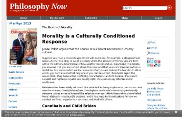 http://philosophynow.org/issues/82/Morality_is_a_Culturally_Conditioned_Response