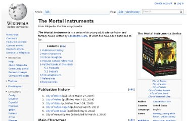 http://en.wikipedia.org/wiki/The_Mortal_Instruments