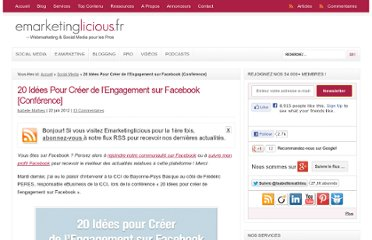 http://www.emarketinglicious.fr/social-media/20-idees-pour-creer-engagement-sur-facebook-conference