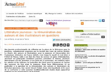 http://www.actualitte.com/societe/litterature-jeunesse-la-remuneration-des-auteurs-et-des-illustrateurs-en-questions-34917.htm